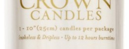 Taper Candles, Dripless, Smokeless, Unscented