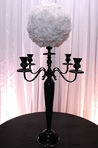 Black 5 arm Candelabra Centerpiece