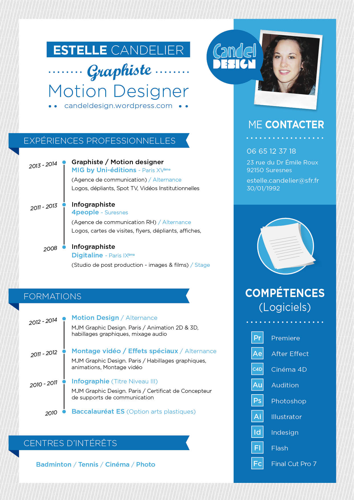 faire un cv avec wordpress