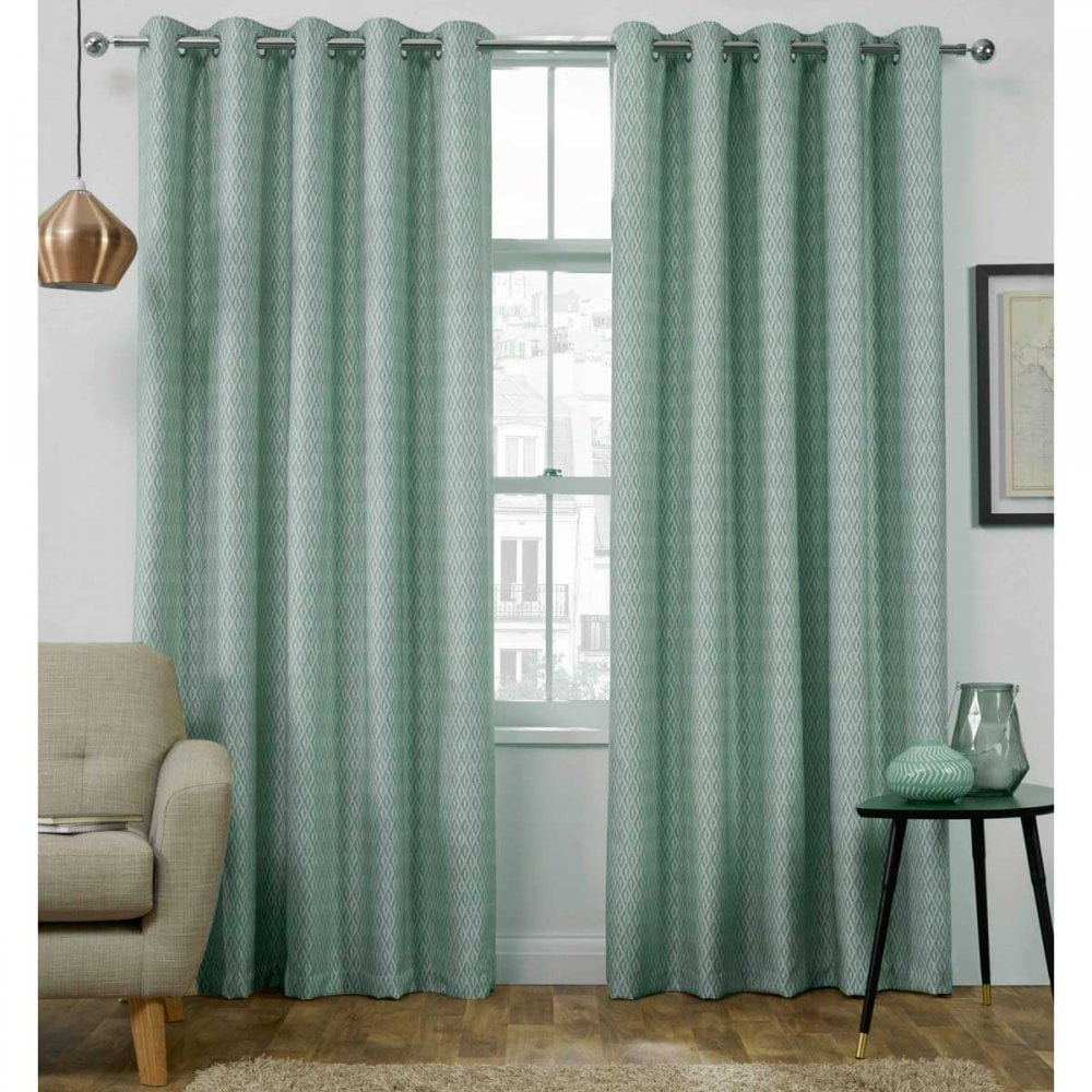 Ready Made Thermal Curtains Phoenix Luxury Thermal Eyelet Ready Made Curtains In Duck Egg