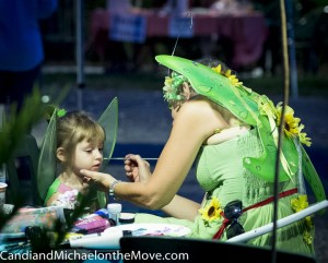 the face painting was a huge hit and very well done by local artists