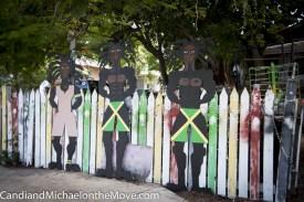 Artwork along Mr. Chapman's fence