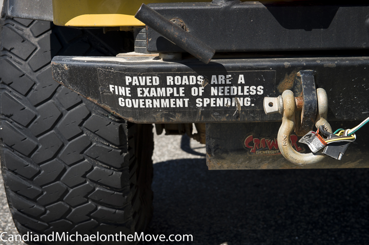 There is a lot of beach driving on the Outer Banks. This Bumper sticker captures the carefree feeling!
