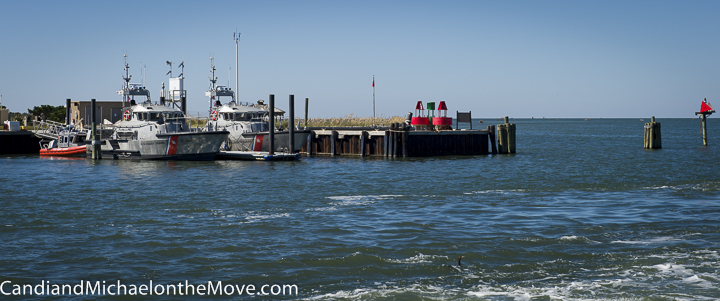 The ferry ride was part of the fun.  Here we are heading out of Hatteras towards Ocracoke Island.
