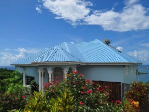 The entrance to Welcome Villa in the fishing village of Woburn, Grenada