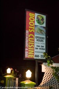Boots Cuisine serves gourmet Grenadian food and is a delightful restaurant in so many ways.