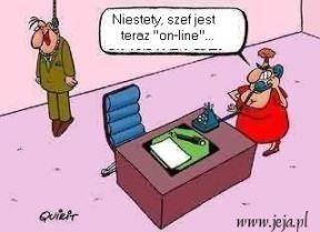 szef jest on line