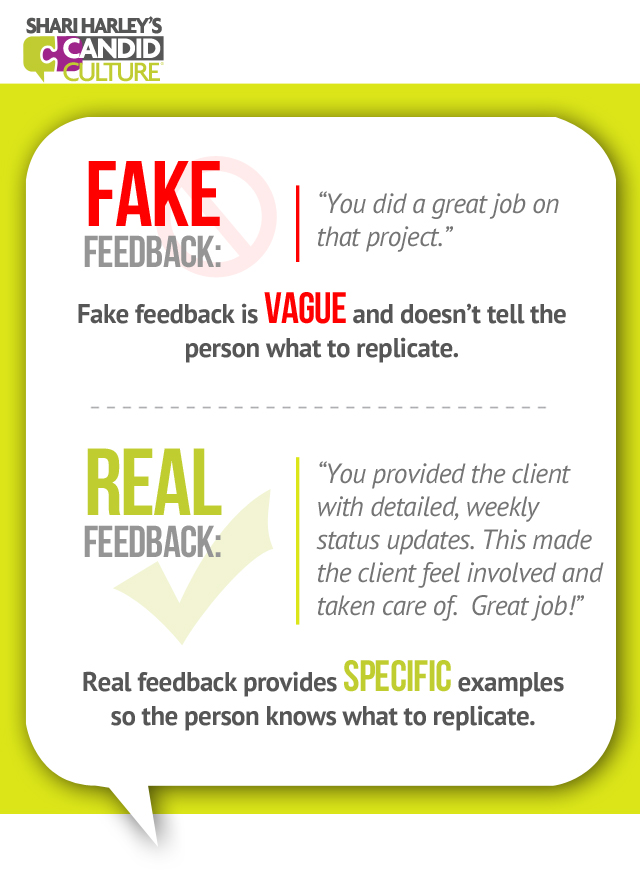 Four Examples of Positive Feedback - Replicate Good Behavior - Shari - examples of