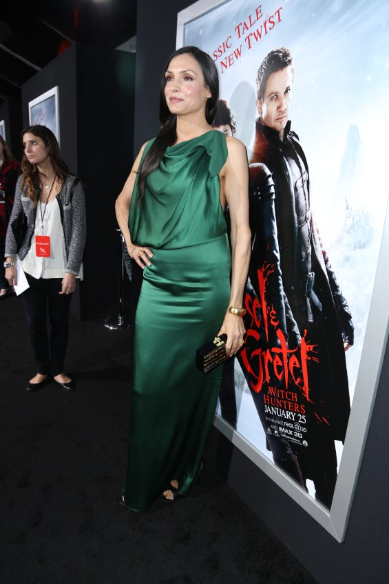 "Famke Janssen arrives at the Los Angeles premiere of ""Hansel and Gretel Witch Hunters"" held at Grauman's Chinese Theatre on Thursday, January 24, 2013 in Hollywood, Calif. (Photo by Alex J. Berliner/ABImages)"