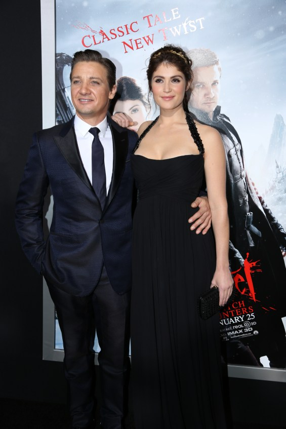 "Jeremy Renner, left and Gemma Arterton arrive at the Los Angeles premiere of ""Hansel and Gretel Witch Hunters"" held at Grauman's Chinese Theatre on Thursday, January 24, 2013 in Hollywood, Calif. (Photo by Alex J. Berliner/ABImages)"
