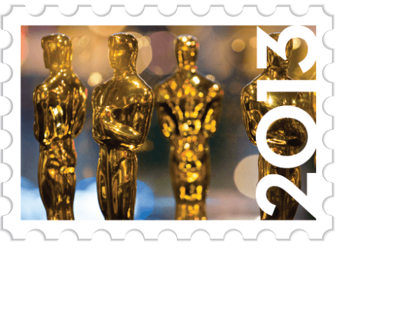 Custom Stamp for Oscar Invitations 565x450 Interview: Oscar Envelope and Winners Announcement Card Designer Marc Friedland Discusses the Academy Awards and How to Throw a Great Awards Show Party