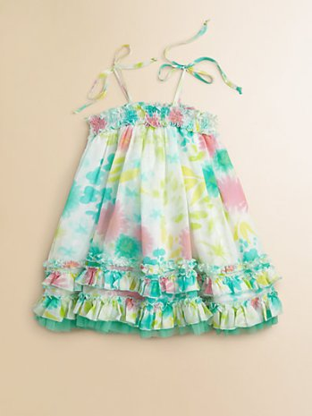 Halabaloo Infant Girl's Multicolor Floral Dress. Saks Fifth Avenue Easter