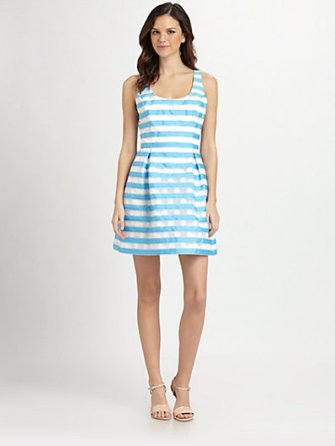 Lilly Pulitzer Striped Joslin Dress in Flutter Blue. Saks Fifth Avenue