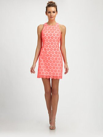 Lilly Pulitzer Pearl Dress in Fiesta Pink. Saks.com