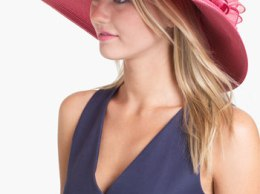 August Hat Garnet Romantic Hat in Fuschia. Nordstrom