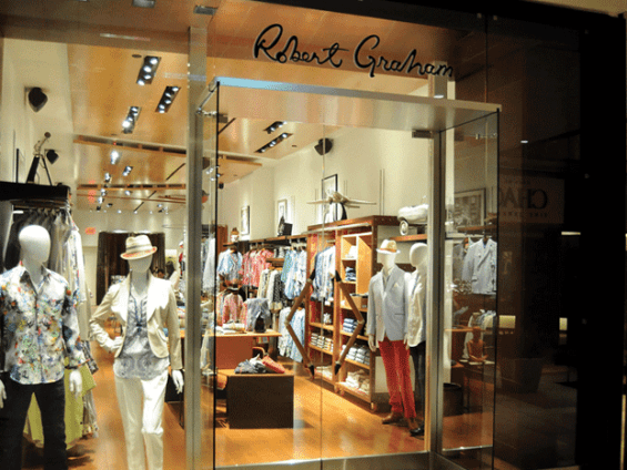 A beautifully displayed Robert Graham store.