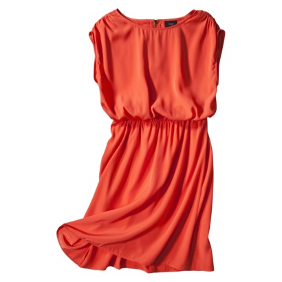Mossimo Women's Short Sleeve E-waist Dress in Viceroy Orange or Black. Target.com
