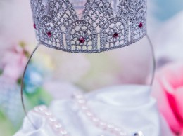 "Learn how to make this beautiful lace crown as seen on Hallmark's Home & Family! Cristina Ferrare and Tanya Memme DIY beautiful lace crowns on Hallmark's ""Home & Family""! H&F Photo Credit: Copyright 2014 Crown Media Family Networks/Photographer: Jeremy Lee Tanya Memme DIY expert Candace Rose blog"