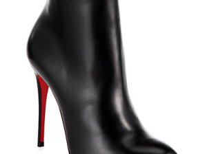 Christian Louboutin Fifi Leather Ankle Boots 0452502458559 in Black Saks Fifth Avenue Candace Rose
