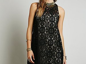 Free People Wallflower Tent Dress in Black STYLE: 33659749