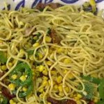 """Recipe: Learn To Make """"The Chew"""" Chef Michael Symon's Spaghetti with Corn, Bacon and Jalapeños!"""
