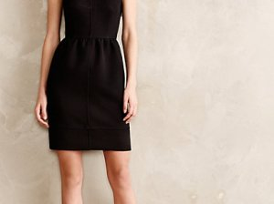 Rokin Fit and Flare Dress by Maeve in Black