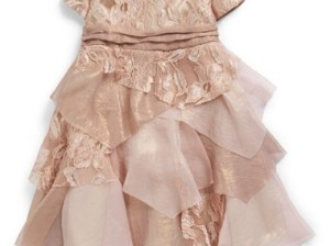 Biscotti 'Good as Gold' Party Dress (Baby Girls) in Gold