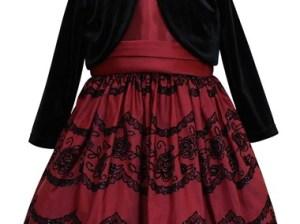 Sorbet Taffeta Dress & Velvet Bolero (Toddler Girls & Little Girls)