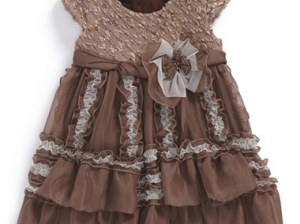Isobella & Chloe 'Reese' Cap Sleeve Dress (Baby Girls)