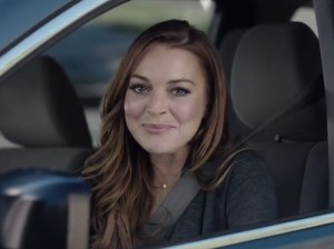 Lindsay Lohan will be making a celebrity cameo in Super Bowl Sunday's Esurance ad. Photo credit: Lindsay Lohan. Image courtesy of People.com