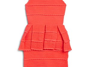 MILLY MINIS Girl's Tiered Ottoman Stretch Peplum Dress in Pink