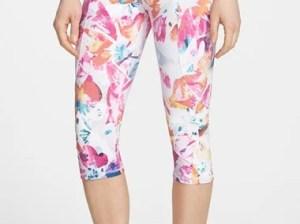 NYDJ 'City/Sport' Floral Print Crop Trainer Pants in Tropical Floral