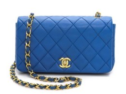 What Goes Around Comes Around Chanel Mini Flap Bag in Blue
