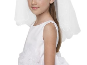 Us Angels Beaded Headband with Veil (Little Girls & Big Girls)