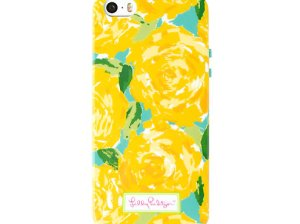 Lilly Pulitzer iPhone 5/5S Cover in Sunglow Yellow First Impression Accessories Small