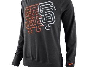 Nike San Francisco Giants Women's Black Epic Crew Performance Sweatshirt