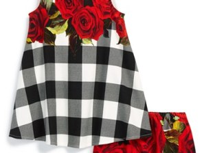 Dolce & Gabbana Sleeveless Dress & Bloomers (Baby Girls) in Black, White and Red