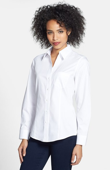 Trendy nordstrom anniversary sale tops for women in every for No iron cotton shirts