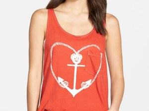 WILDFOX 'Sail Away with Me' Pocket Tank