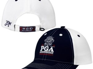 2015 PGA Championship Navy Blue/White Chino Contrast Stitch Adjustable Hat