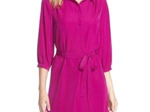 FELICITY & COCO Shirtdress (Nordstrom Exclusive) in Purple