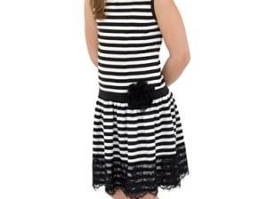 LITTLE ANGELS Stripe Tank Dress (Toddler Girls & Little Girls) in Ivory
