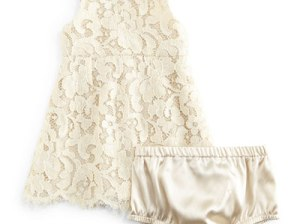 Dolce & Gabbana Sleeveless Lace Dress & Bloomers in Ivory, Girls' 9-30 Months