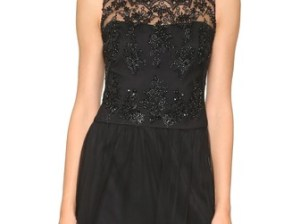 Marchesa Notte Sleeveless Lace Cocktail Dress in Black. Shopbop