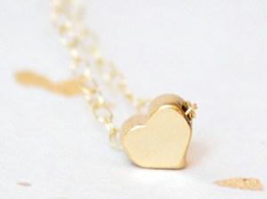 Adorn512 TEENY TINY HEART NECKLACE