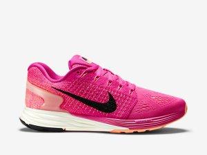 NIKE LUNARGLIDE 7 WOMEN'S RUNNING SHOE in Pink Foil/Pink Pow/Sunset Glow/Black