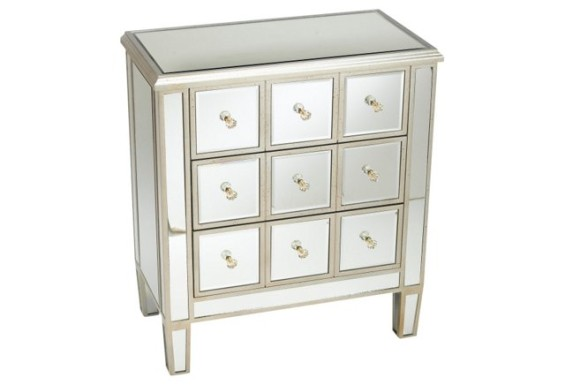 Mirrored Nightstand With Drawers Mirrored Nightstand With
