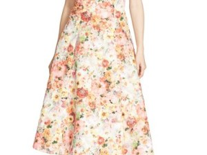 Ted Baker London 'Senona' Strapless Floral Applique Fit & Flare Dress