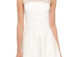 Lela Rose Lace Hem Dress Ivory Shopbop shopbop memorial day sale