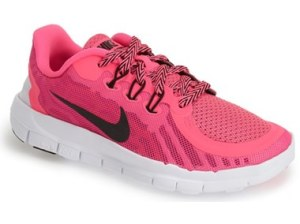 Nike 'Free 5.0' Mesh Athletic Shoe (Toddler & Little Kid) Pink Vivid Pink White Black Nordstrom nordstrom half yearly sale for kids girls of all ages